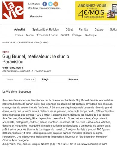 Guy Brunet réalisateur - Le studio Paravision - La Vie -280416.jpg